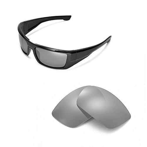 Walleva Ersatz Linsen für Spy Sonnenbrille Optik Dirk-6Optionen erhältlich, Titanium Mirror Coated - Polarized