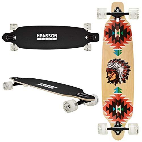 """Hansson.Sports Top Longboard Komplett Skateboard Long Board 39\"""" (99cm) Ecstasy"""