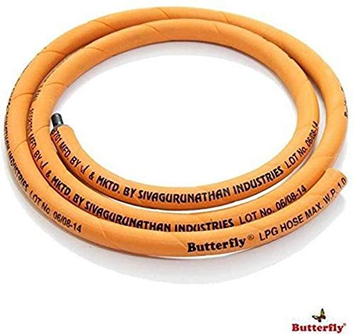 BUTTERFLY Original LPG Gas Tube Hose Orange Colour,ISI Quality