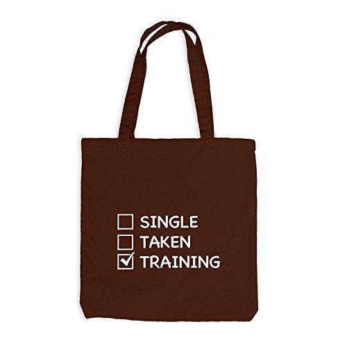 Jutebeutel - Single Taken Training Checkbox - Gym Train Fitness Sport Chocolate