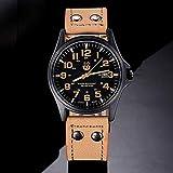 Frauen Uhren,Moeavan Frauen Quarz Uhren Analog Clearance Damen Armbanduhren Mädchen Uhren Leder Damenuhren (Khaki)