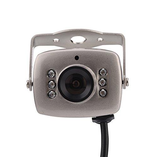 VBESTLIFE Mini Überwachungskamera, 6 LED verdrahtete CMOS CCTV Überwachungskamera Nachtsicht Digital Videokamera PAL/NTSC System Innensicherheits Überwachungs Kamerarecorder für Haus(PAL) -