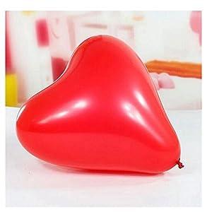 Shatchi 10022 - Globos de Helio con Forma de corazón de látex Rojo para San Valentín, Aniversario, Boda, Compromiso, decoración de Fiesta de cumpleaños