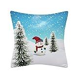 HEVÜY Home Weihnachten Dekorative Leinen-Optik Kissenbezug Kissenhülle Kissenbezüge Weihnachtskissenbezüge für Sofa