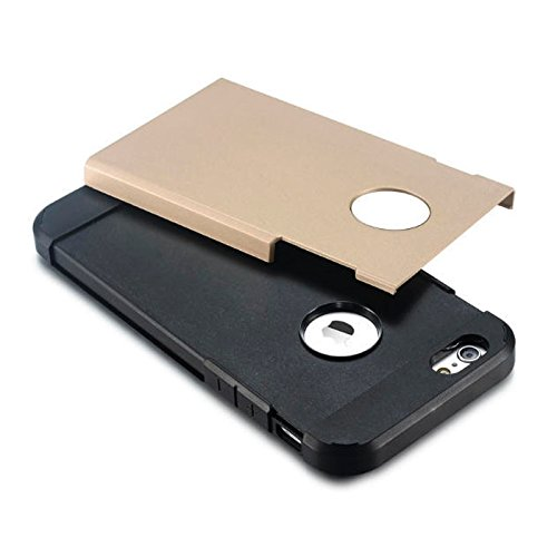 BING Für iPhone 6 / 6s, Hybrid PC + TPU Tough Armor Farbe Hard Case Cover BING ( Color : Grey ) Gold