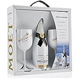 Moët & Chandon Ice Impérial Geschenk Set Champagner Flasche und inklusive zwei Gläser