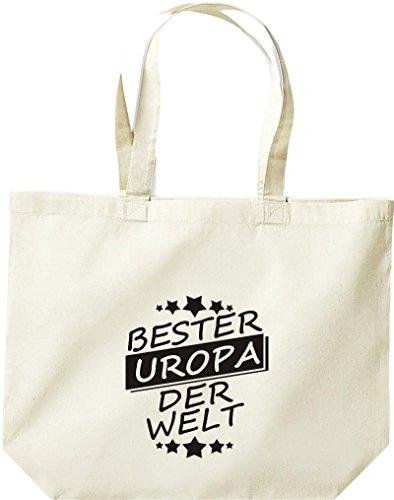 ShirtInStyle grosse Einkaufstasche Bester UROPA der Welt Natur