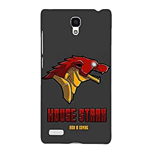 Jugaaduu Game Of Thrones GOT House Stark Back Cover Case For Redmi Note