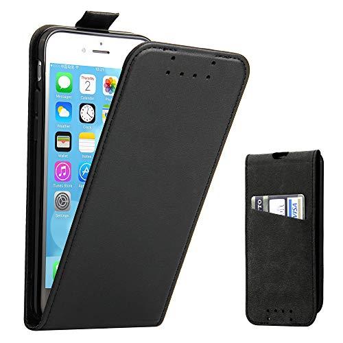 iPhone 7 Hülle, iPhone 8 Hülle, Supad Leder Tasche für Apple iPhone 7 / 8 4,7 Zoll Handyhülle Flip Case Schutzhülle (Schwarz) - 7 Leder