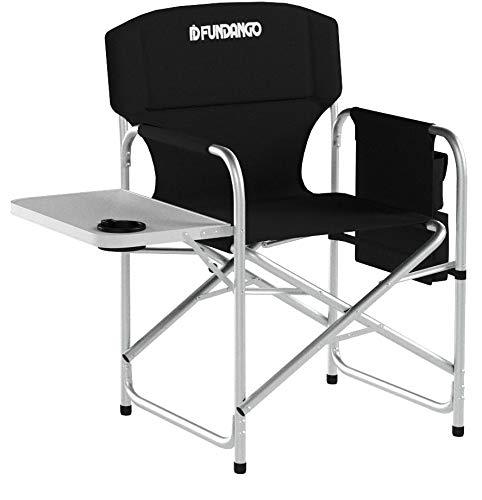 Fundango Aluminum Campingstuhl Regiestuhl mit Seitentisch und Seitentasche