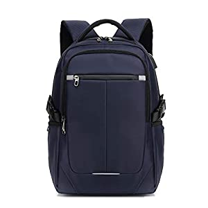 FANDARE 15.6 Pulgadas Laptop Mochila Impermeable Bolso de Escuela con USB Agujero del Auricular Tira Reflectante Hombres/Mujeres Rucksack Outdoor Viajes Camping Backpack Poliéster Azul