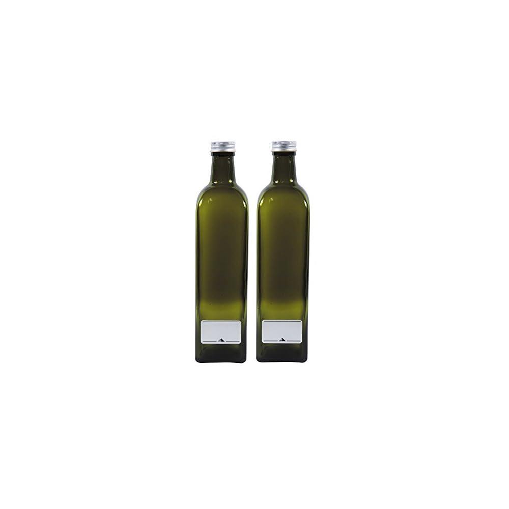2x Leere Lflasche 750ml Grn Braune Glasflasche Zum Selbst Befllen Inkl 2 Beschriftungsetiketten