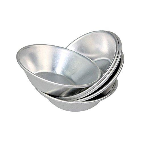 Keysui 24 eloxierten Aluminium-Ei Tart Cupcake Kuchen Cookie Form Puddingform Backen Werkzeug