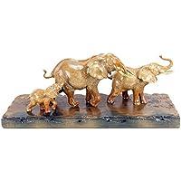 Große moderne Tier Skulptur Schwan 31,5 cm x 20 cm Figur weiss mehrfarbig