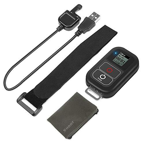 Dispara para GoPro Hero 7/6/5/4 / WiFi inalámbrico Control remoto RC Cargador + Muñequera de plástico + PCB - Negro
