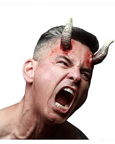 Teuflische Dämonen Hörner Latexapplikation für Halloween & Fasching