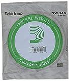 D'Addario NW046 - Cuerda individual con entorchado en níquel para guitarra eléctrica.046
