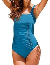 Honestyi Costume da Bagno Donna Intero Sexy Bikini Costumi Interi Beachwear dello Swimwear Imbottito da Spiaggia Mare e Piscina Push up Swimsuit di Grandi Dimensioni