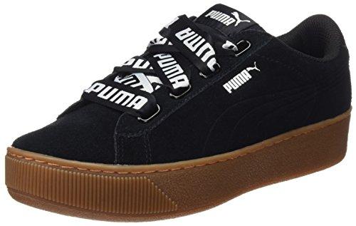Puma Damen Vikky Platform Ribbon Bold Sneaker, Schwarz Black, 42.5 EU