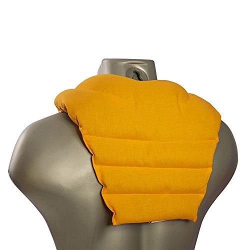 Cuscinetto ricurvo per collo e schiena, mango | Cuscino termico cervicale con noccioli di ciliegia | Cuscino cervicale con schienale