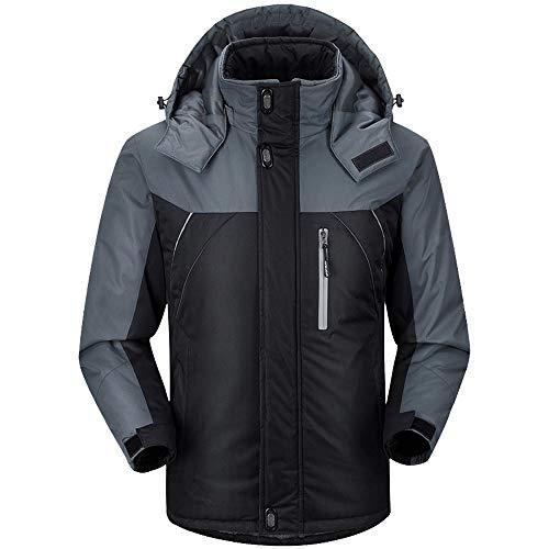 Milktea Mantel, Männer Winter Langarm Warm Kapuzen Zip Dick Fleece Mantel Outwear Wind Jacke Bergsteigen Sweatshirt Warm Ultraleichte...