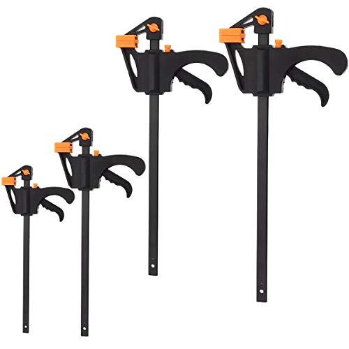 Anti-Rutsch-Griffe 6/8/10/12 Inch Grip Ratchet Mitteilung Squeeze Handwerkzeug Holzbearbeitung Bar F Clamp, Festigkeit und Haltbarkeit (Größe : 8 inch) -