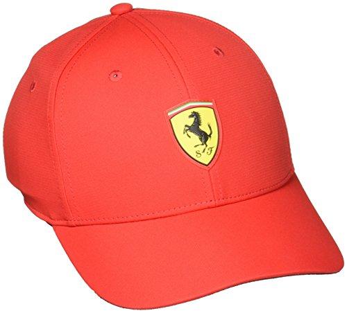 PUMA Ferrari Fanwear Baseball Cap, Rosso Corsa, One Size
