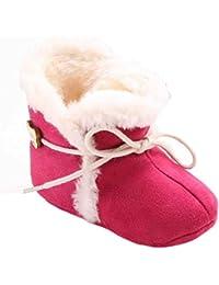 Malloom Bebé Suela blanda nieve suave cuna zapatos niño botas con cordones de oso