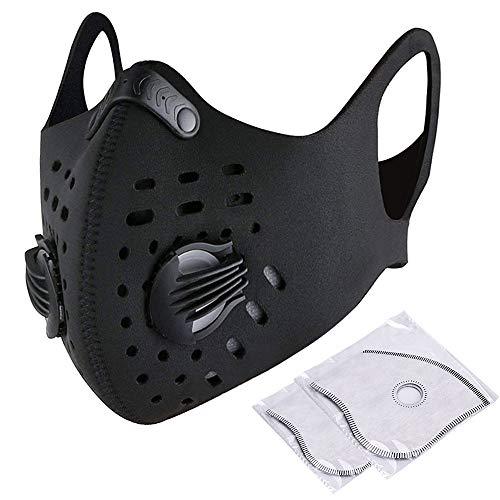 Staubdicht Maske Cechya Klettverschluss emissionskontrollvorrichtungen Maske Aktivkohle Filtration Auspuff Gas Anti Pollen Allergie für Motorrad MTB Running Radfahren Alle Outdoor-Aktivitäten (Maske) - Aktivkohle-filtration