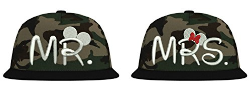 uflage Cap/Modell Mr. & Mrs. Mickey Mini/Weiß-Jungle Camouflage / B691 ()