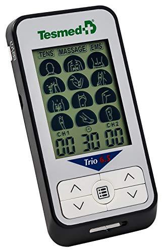TESMED Trio 6.5 elettrostimolatore Muscolare, tens antidolori, Massaggi - 36 programmi -...