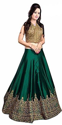 Lehenga (Lady Loop Women\'s Green Net Free Size Lehenga Chaniya Choli)
