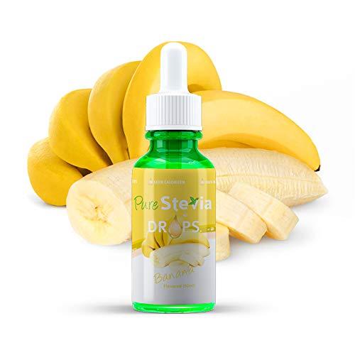 Stevia Tropfen 50ml - Flüssiger Süßstoff - Natürliche Zutaten - PureStevia (Banane)