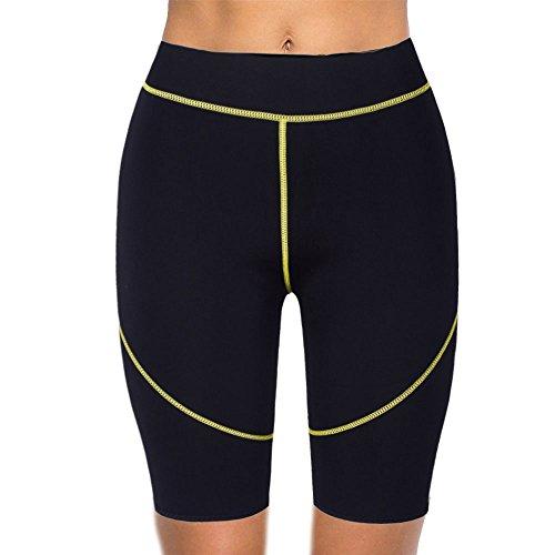DODOING Damen und Herren Schwitzhose Sauna Hose Shaper Neopren Kurze Hose Sport Sweat Pants Slimming Hose für Gewichtverlust