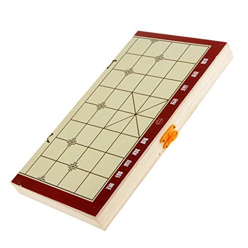 Gazechimp Retro-Klappbaren Tragbaren Chinesisches Schach aus Holz für Haus Freien Pädagogisches Spielzeug, Geschnek