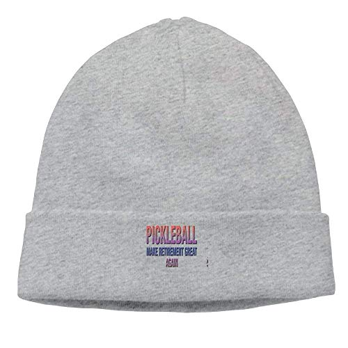 Pickleball Make Retirement Great Again.PNG New Winter Hats Knitted Twist Cap Thick Beanie Hat Ash