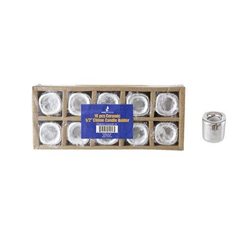 mik Chime Ritual Spell Kerzenhalter-Silber, Set von 10 ()