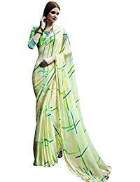 Craftsvilla Womens Satin & Silk Lace Work Partywear Multicolor Saree With Blouse Piece
