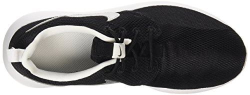 Nike Roshe One (Gs), Chaussures Multisport Indoor mixte enfant Noir (Black/Metallic Silver-White-White)