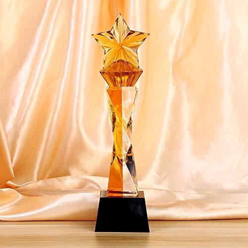 Maerye Pentagram Kristall-Trophäe Kreative Souvenir Geschenk Award Kristall Handwerk -