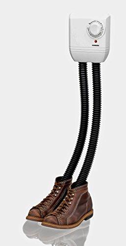 Melissa Schuhtrockner elektrisch, Schuhwärmer für Stiefel, Gummistiefel und Handschuhe, Trockner für Wanderschuhe oder auch Skischuhe, Heizung mit Gebläse und Zeitschaltuhr für 1 Paar Schuhe (Elektrische Stecken Trockner)
