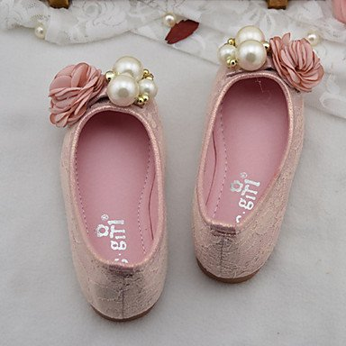 LIDOG Mariage Extérieure Habillé Décontracté Soirée & Evénement-Rose Or-Talon Plat-Confort Light Up Chaussures-Ballerines-Similicuir Gold