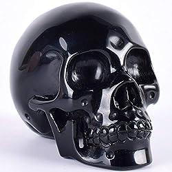 ABMBERTK - Calavera de obsidiana, 4 pulgadas