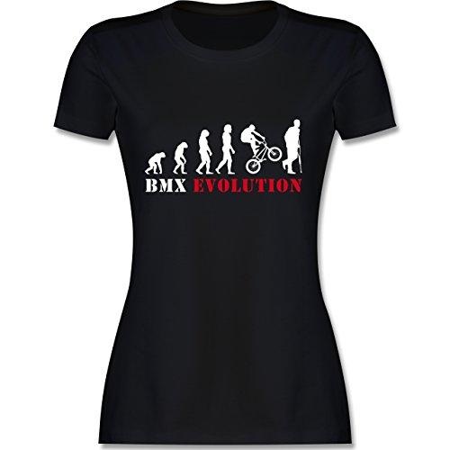 Evolution - BMX Evolution - tailliertes Premium T-Shirt mit Rundhalsausschnitt für Damen Schwarz