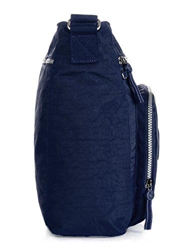 Oakarbo, Borsa a tracolla donna viola 1301 Vivid violet 1301 Navy blue