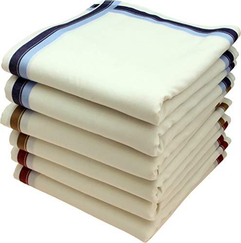 Royal Quality Stofftaschentücher 6 Stück ca.40x40cm reine Baumwolle Herrentaschentücher Charles