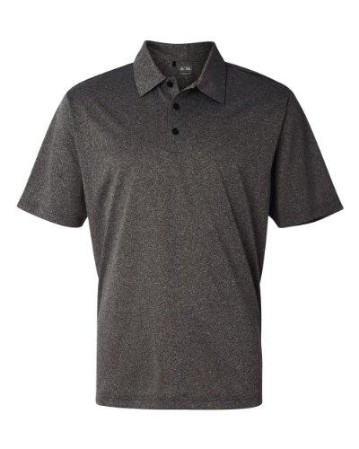 Golf Climalite (adidas Golf Mens Climalite Heather Polo (A163) -Black Heat -2XL)