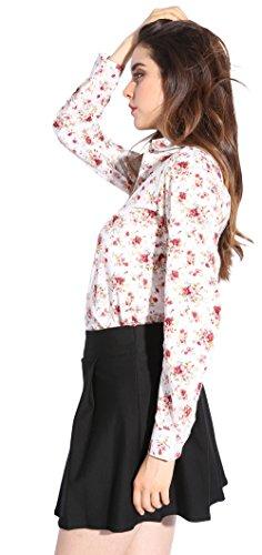 Dioufond Schön Damen Blumen Floral Printing Bluse Elegant Baumwolle Hemden Casual Dünne Langarm Bluse Halsband Tunika Top Shirt Hellgelb