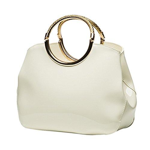 MeiZiWang Frau MeiZiWang Portable PU-Leder-Schalentasche White
