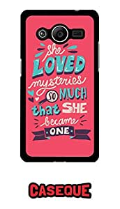 Caseque She Loved Mysteries.. Back Shell Case Cover For Samsung Galaxy Core 2